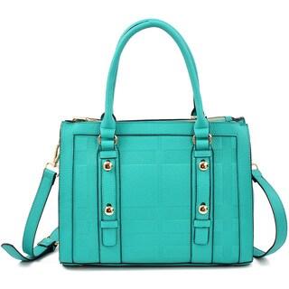 Dasein Belted Medium Satchel Handbag (Option: Gold)