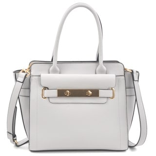 Dasein Soft Faux Leather Work Satchel Handbag