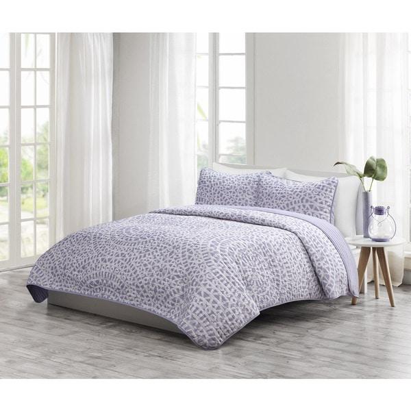 Shop Echo Design Mykonos Lilac Quilt Set Free Shipping Today