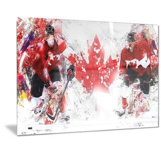 Designart 'Hockey In Canada Metal Wall Art
