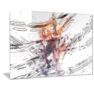 Designart 'Basketball Abstract Pointer Metal Wall Art