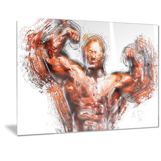 Designart 'Body Building Lean Out Metal Wall Art