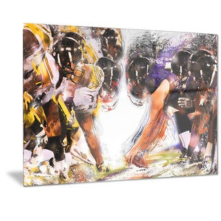 Designart 'Football Hut Metal Wall Art