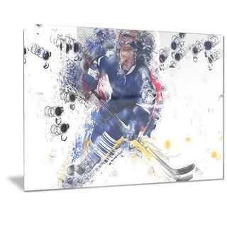 Designart 'Hockey Penalty Shot Metal Wall Art