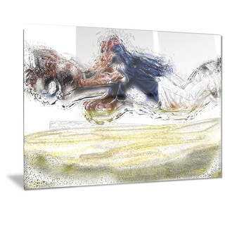 Designart 'Baseball You'rrrre Out Metal Wall Art