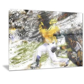 Designart 'Baseball Umpire Metal Wall Art