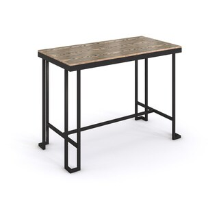 Roman Industrial Counter Table with Bamboo Top