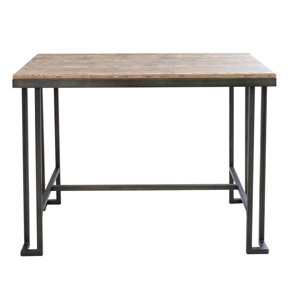 Antique rustic dining table - Roman Industrial Counter Table With Wooden Top And Antique Frame