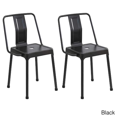 LumiSource Energy Metal Chairs (Set of 2)