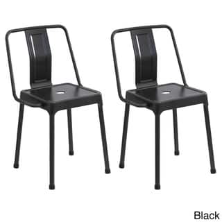LumiSource Carbon Black/Cappuccino/Red Metal Industrial-style Energy Chairs (Set of 2)|https://ak1.ostkcdn.com/images/products/11862414/P18762238.jpg?impolicy=medium
