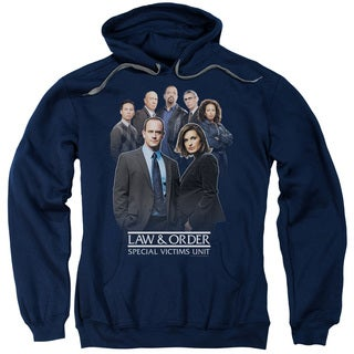 Law Order SVU/Team Adult Pull-Over Hoodie in Navy