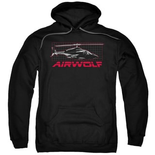 Airwolf/Grid Adult Pull-Over Hoodie in Black