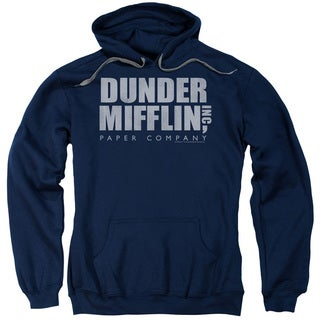 The Office/Dunder Mifflin Distressed Adult Pull-Over Hoodie in Navy