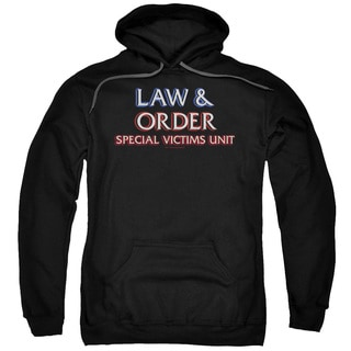 Law Order SVU/Logo Adult Pull-Over Hoodie in Black