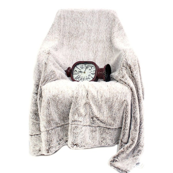 Luxury Faux Fur Blanket with Back Fleece