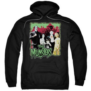 Munsters/Normal Family Adult Pull-Over Hoodie in Black