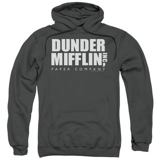 The Office/Dunder Mifflin Adult Pull-Over Hoodie in Charcoal