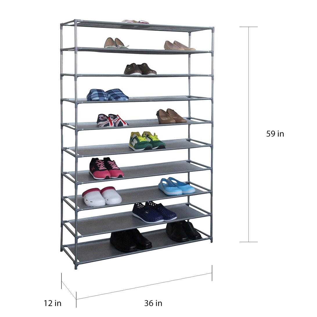 Basics 50-Pair Shoe Rack