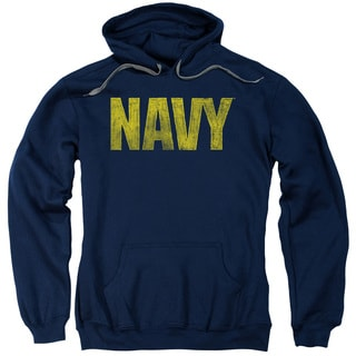 Navy/Logo Adult Pull-Over Hoodie in Navy