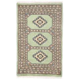 Herat Oriental Pakistani Hand-knotted Bokhara Wool Rug (2'1 x 3'5)