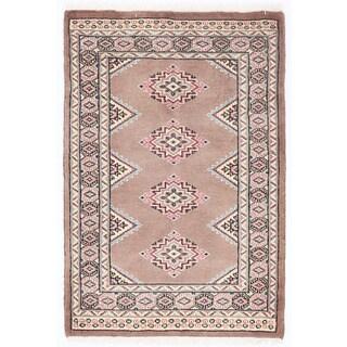 Herat Oriental Pakistani Hand-knotted Bokhara Wool Rug (2' x 3'1)