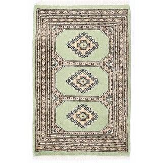 Herat Oriental Pakistani Hand-knotted Bokhara Wool Rug (2'2 x 3'4)