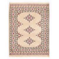 Handmade Herat Oriental Pakistani Bokhara Wool Rug - 2'1 x 2'9 (Pakistan)