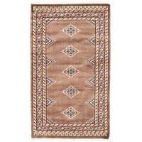 Herat Oriental Pakistani Hand-knotted Bokhara Wool Rug (2'1 x 3'1)