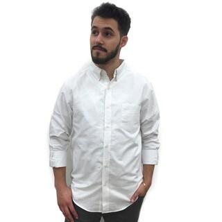 Nej Reed Edward Men's White Cotton Button-down Shirt