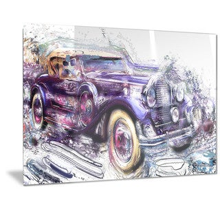 Designart 'Abstract Vintage Cruiser Car Metal Wall Art