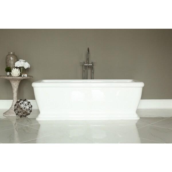 Shop signature white acrylic freestanding bath tub free for Best acrylic bathtubs