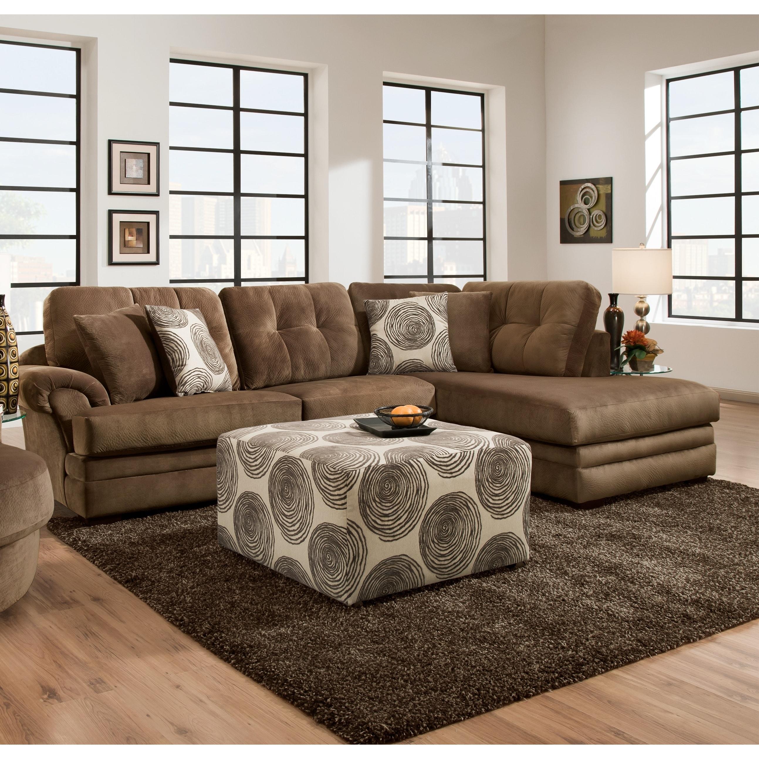 Anna Clogs Sofa Trendz Plush Grey/Brown Velvet/Fabric Sec...