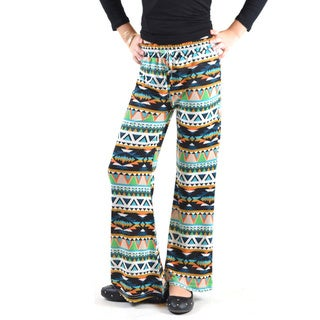 Golden Black Girls' Printed Jersey Palazzo Pants