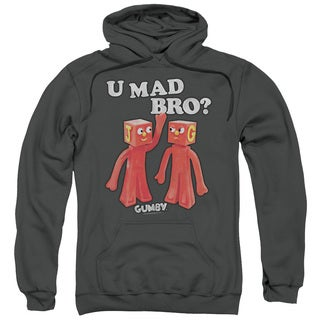 Gumby/U Mad Bro Adult Pull-Over Hoodie in Charcoal