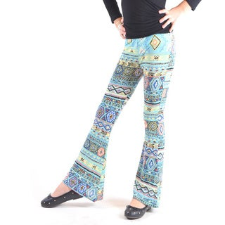 Children's Multi-colored Polyester/Spandex Wrinkle-resistant Bell Bottom Pants