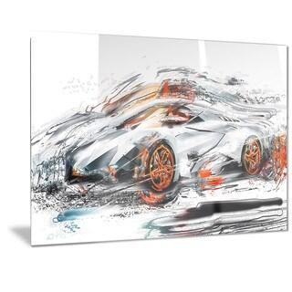 Designart Modern Super Car Metal Wall Art