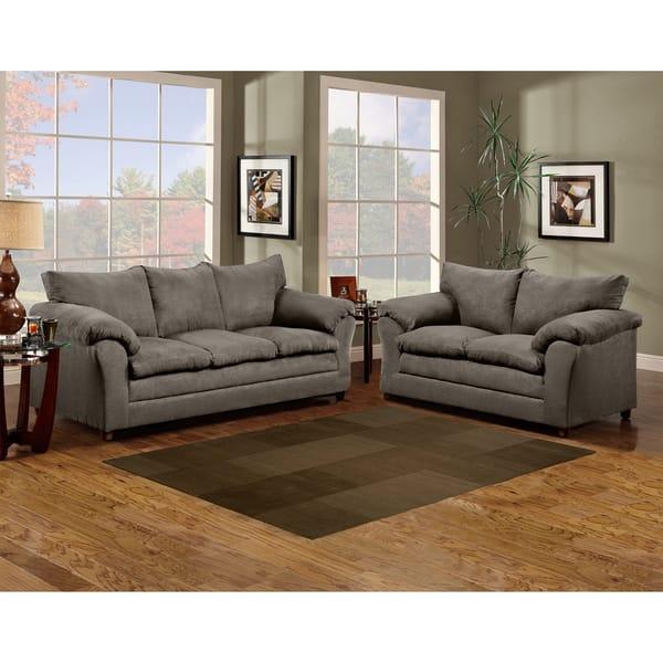 Magnificent Shop Sofa Trendz Microfiber 3 Piece Sofa Set Free Shipping Ncnpc Chair Design For Home Ncnpcorg