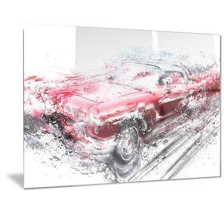 Designart Red Low Rider Convertible Metal Wall Art