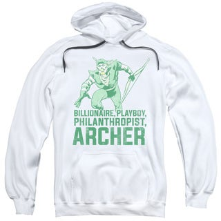 DC/Archer Adult Pull-Over Hoodie in White