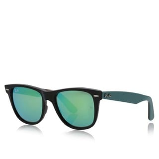 Ray-Ban Wayfarer RB2140 Unisex Black/Green Frame Green Mirror Lens Sunglasses