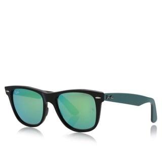 Ray-Ban RB2140 117519 Original Wayfarer Bicolor Black/Green Frame Green Flash 54mm Lens Sunglasses