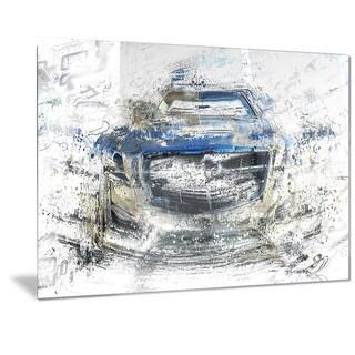 Designart Abstract Muscle Car Metal Wall Art