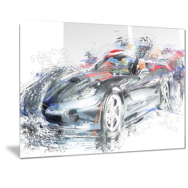 Designart High End Luxury Car Metal Wall Art - Free Shipping Today ...
