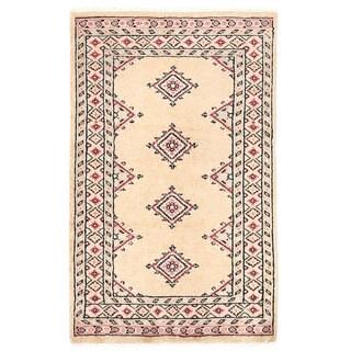Herat Oriental Pakistani Hand-knotted Bokhara Wool Rug (2' x 3'4)