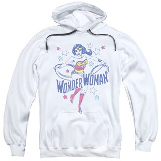 DC/Wonder Stars Adult Pull-Over Hoodie in White