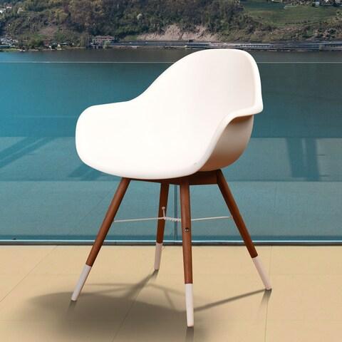Amazonia Hawaii White 4-piece Patio Dining Chair Set