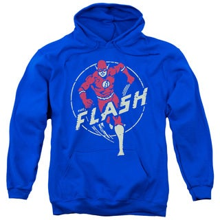 DC/Flash Comics Adult Pull-Over Hoodie in Royal Blue