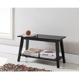 K and B Furniture Co Inc SB-0625 Black Wood Bench