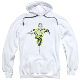 Green Lantern/Inked Adult Pull-Over Hoodie in White