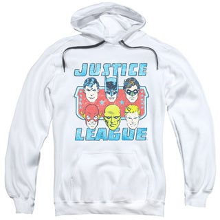 DC/Faces Of Justice Adult Pull-Over Hoodie in White